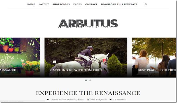 Arbutus-Blogger-kisisel-tema