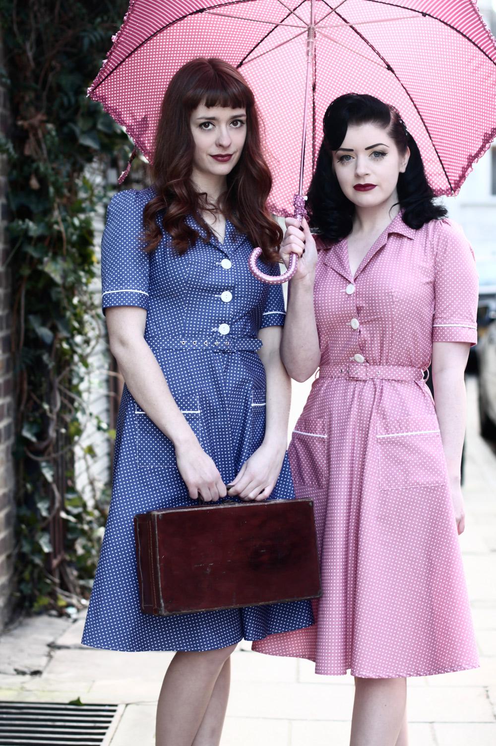 A 1940s style tea dress