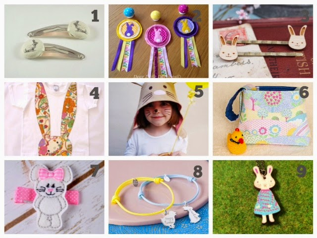 Etsy favorites easter gifts 2015 ladybug home and designs easter bunny rosette from dear little darlings 3 laser cut wooden bunny rabbit hair grips from ginger pickle 4 liberty print hello kitty wonderland rabbit negle Choice Image