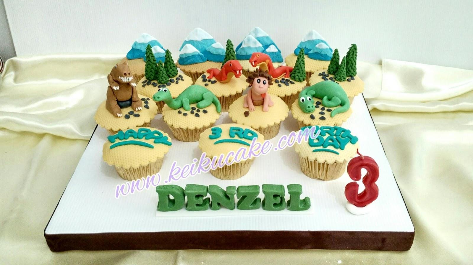 Keiku Cake Good dinosaurs theme cupcakes