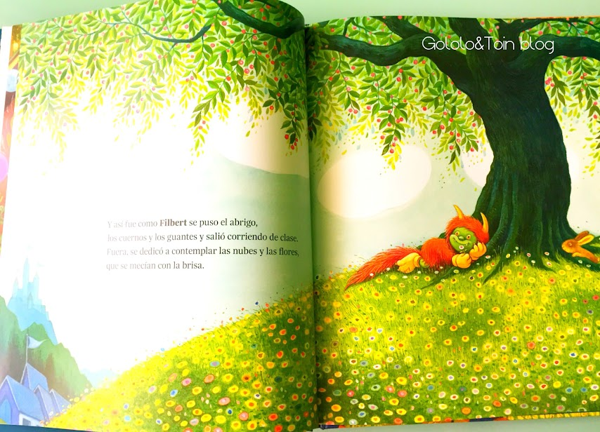 libro-cuento-album-ilustrado-filbert-diablillo-bueno-infantil-niños-lectura