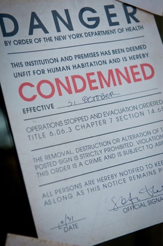printable condemned sign