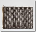 Reiss beaded gunmetal clutch