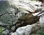 Fissure in the rocks, at the summit of Sugarloaf Mountain near Barnesville, Maryland.