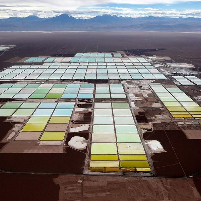 The Lithium Mine Fields of Atacama Desert