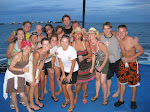 Almost all the group on the boat