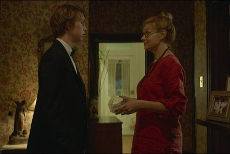 Thomas Mann and Connie Britton in ME AND EARL AND THE DYING GILR