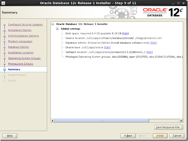 Oracle Database Software Installation 11