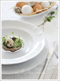 stół wielkanocny dekoracja talerza