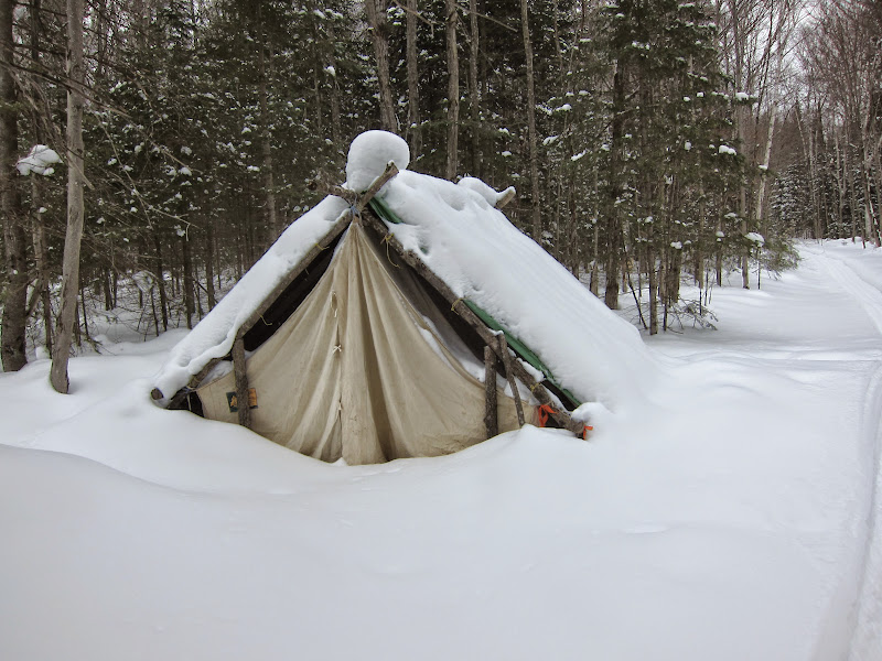 Algonquin adventures message board winter stay at the for Woods prospector tent