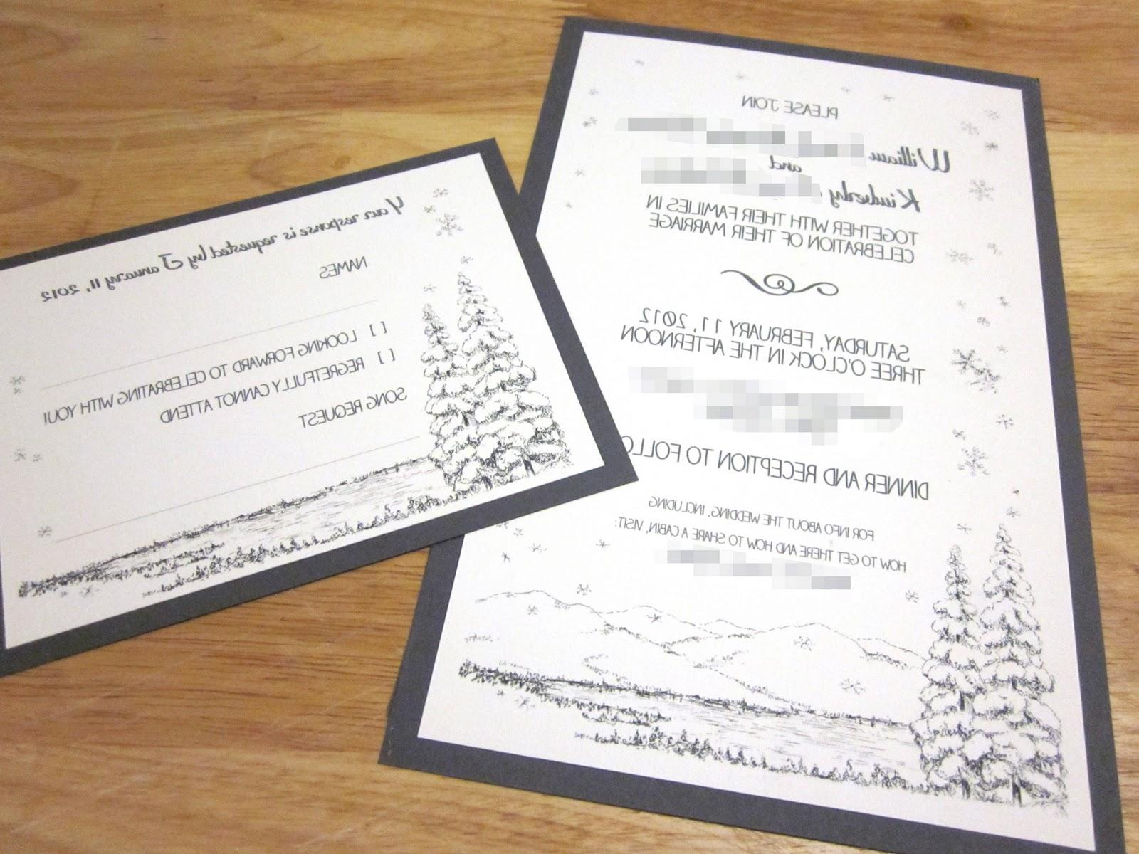 Invitations and RSVP Cards