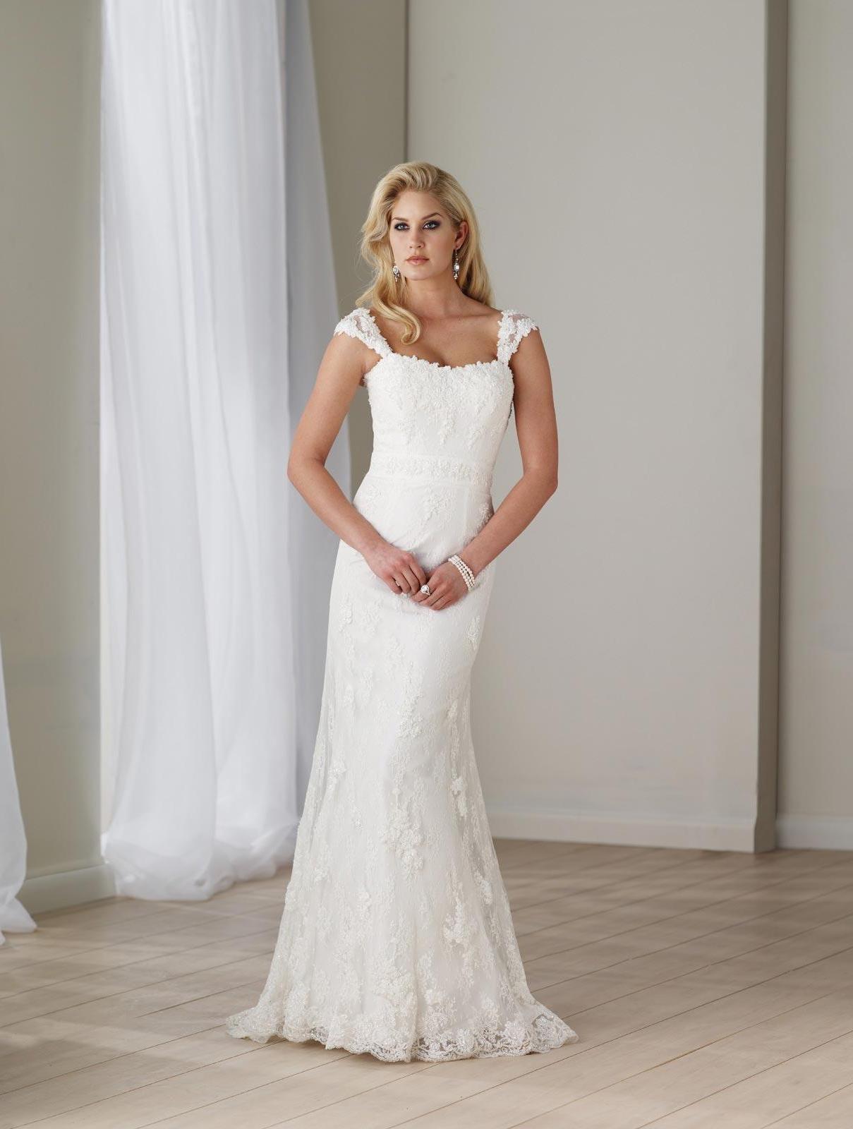 Long Wedding Dress Ivory Lace