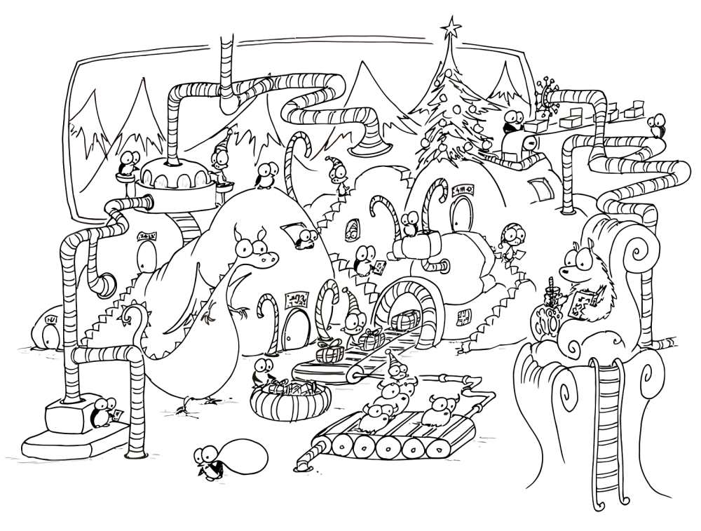christmas coloring pages for free - Christmas Coloring Pages