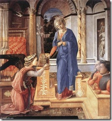 Fra-Filippo-Lippi-Annunciation-with-two-Kneeling-Donors-2-