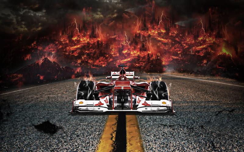 Ferrari Is On Fire by LilSaintJA