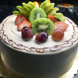 Fruits on Cake by Lope Piamonte Jr - Food & Drink Cooking & Baking