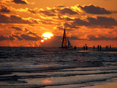 Beautiful sunset at siesta beach image