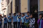 Scouts haciendo una danza