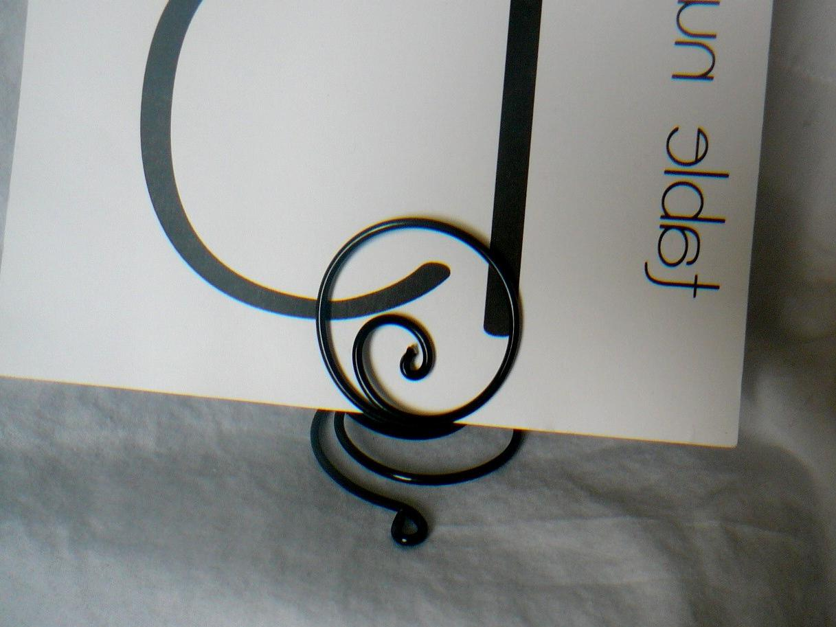 Black Table Number Holders For