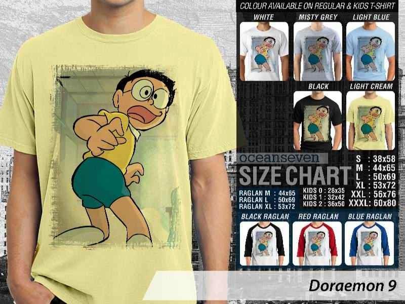KAOS Doraemon 9 Manga Lucu distro ocean seven