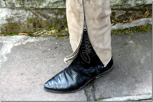 skórzane kowbojki buty idiana long life spain