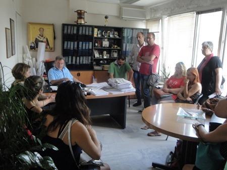 συνάντηση δημάρχου με εργαζόμενους