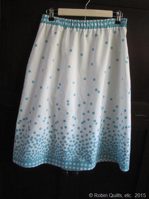 Turq and White Skirt