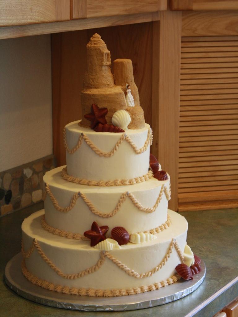 Glynndas Blog Beautiful Beach Wedding Cake