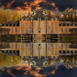 Chateau de Saint Cyr (Picardie) by Gérard CHATENET - Digital Art Places
