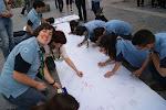 Rovers pintando el Muro Scout