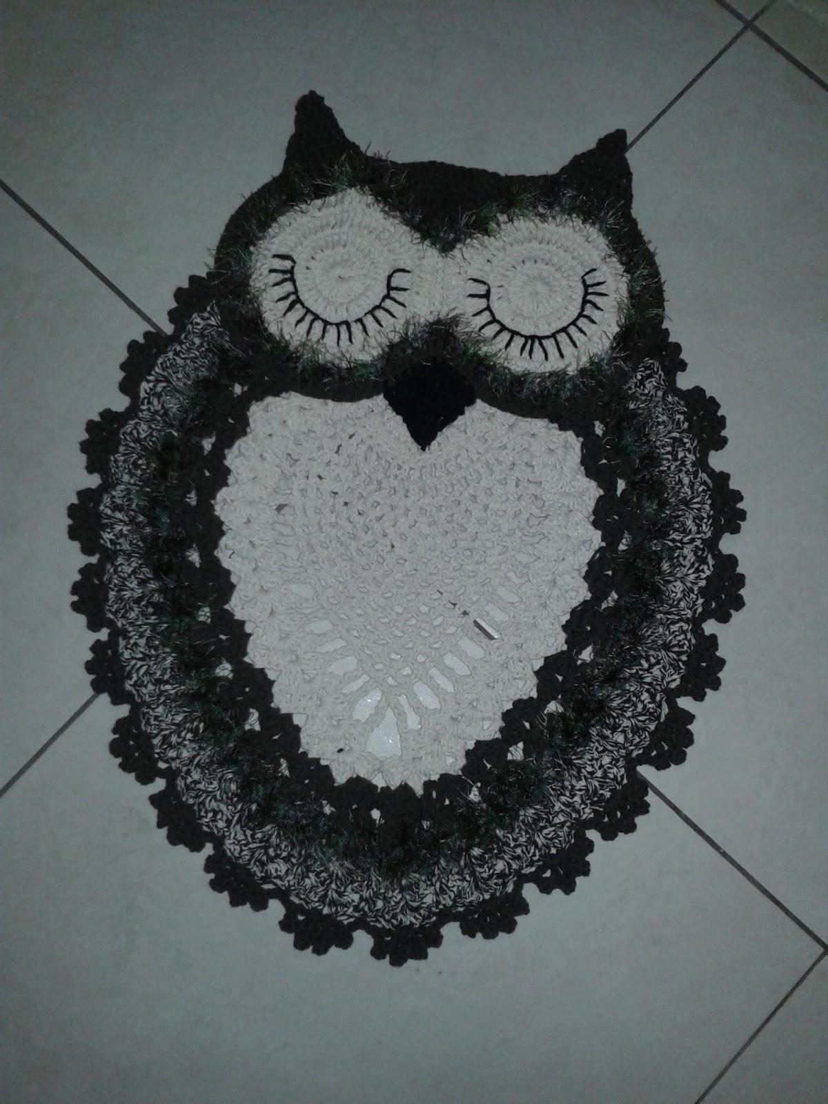 Artesanato: Kit banheiro croche coruja marrom. ..lindooooo #5D676E 1200 1600