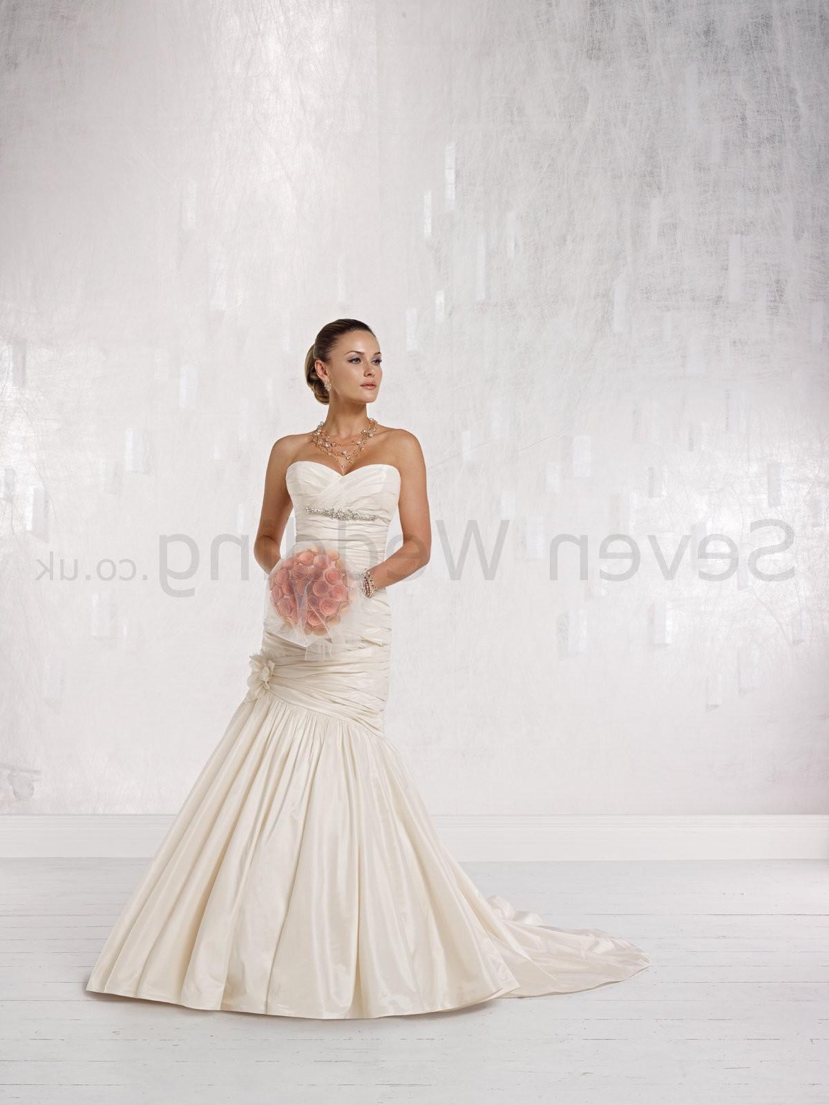 Taffeta Strapless Sweetheart Neckline Mermaid Wedding Dress
