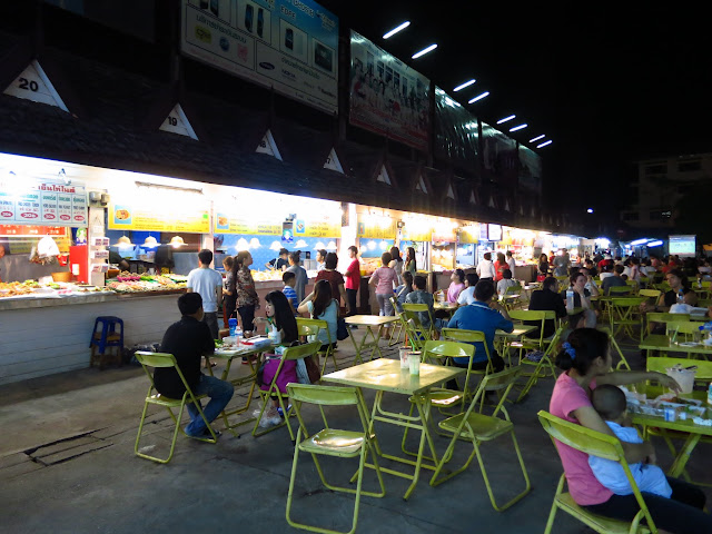 The bustling night market - a great option for dinner.