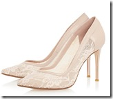 Dune lace court shoe in blush