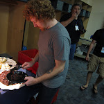 and afterwards...cake in the rays locker room