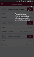 Screenshot of Banca MPS per Smartphone