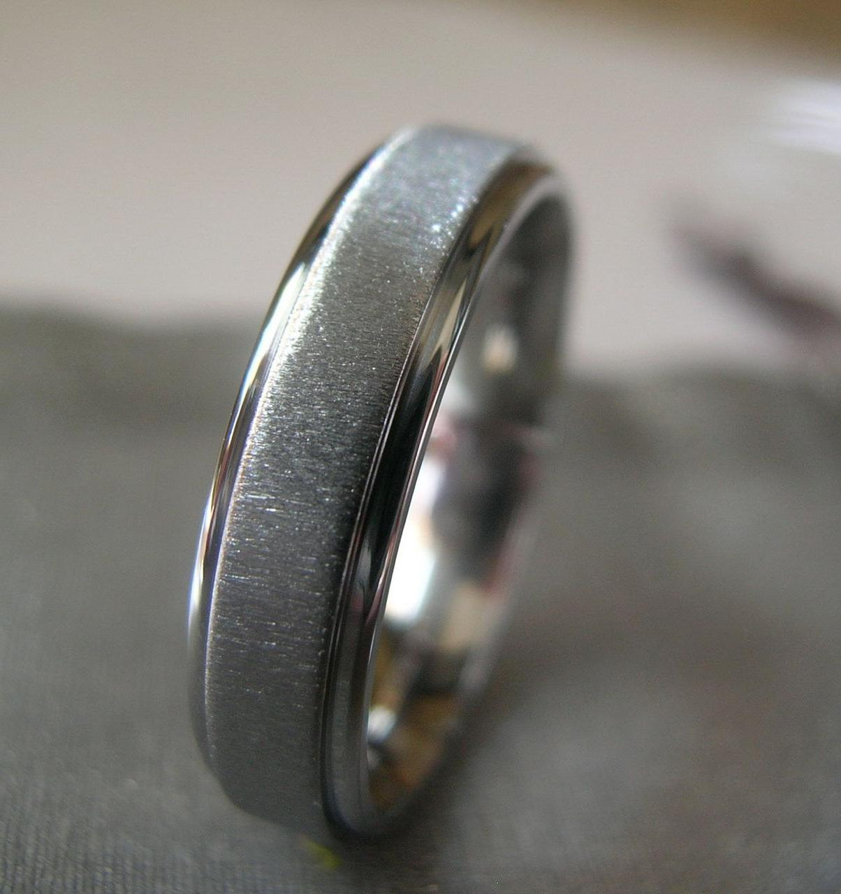 Titanium Ring Wedding Band 5mm size 8 Clearance Sale Priced