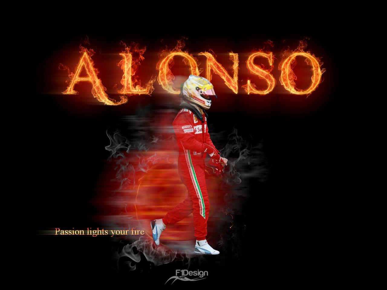 Фернандо Алонсо на Гран-при Монако 2012 - арт MiaF1Design