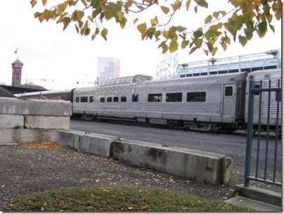 IMG_9790 California Zephyr Dome Coach #4718 Silver Lariat at Union Station in Portland, Oregon on October 21, 2009