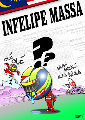 комикс Baffi по Гран-при Малайзии 2012