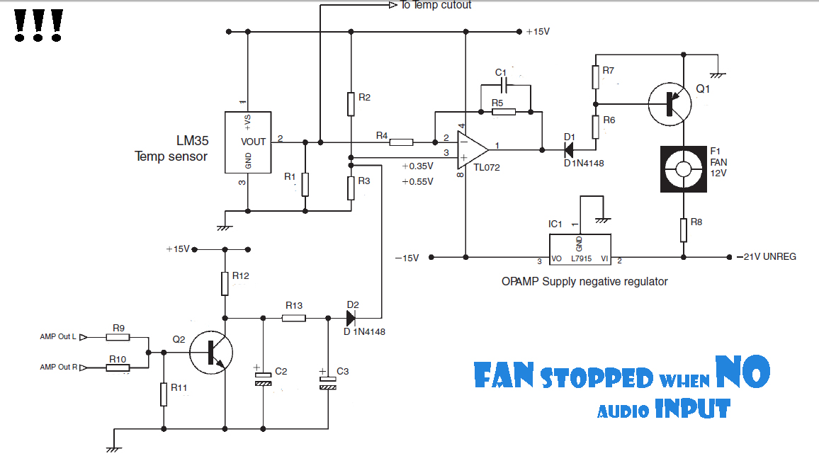 Excellent Fan Stopped When No Audio Input Circuit Diagram Wiring Digital Resources Anistprontobusorg
