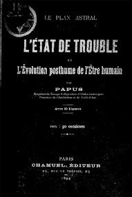 Cover of Papus's Book L'etat de Trouble et L'evolution Posthume de l'Etrehumain (1894,in French)