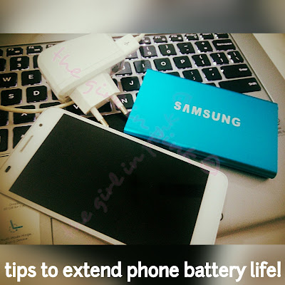 tips to extend your battery life