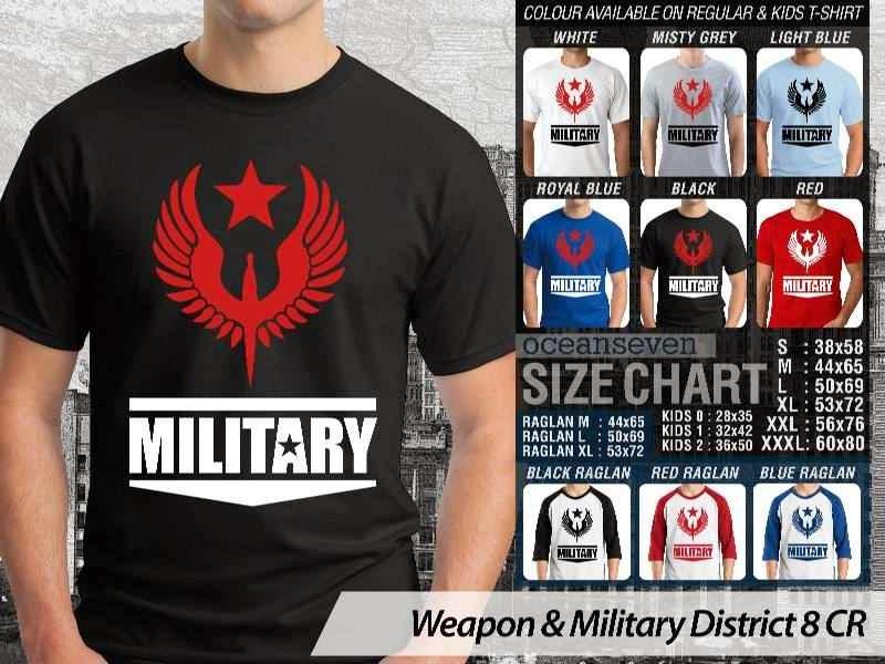 KAOS Militer Weapon & Military District 8 distro ocean seven