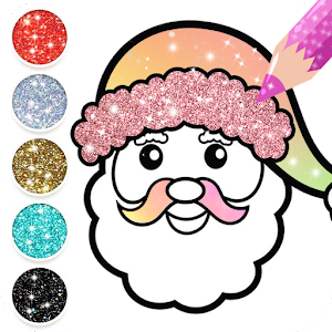 Christmas Coloring Book Glitter For Kids Online PC (Windows / MAC)