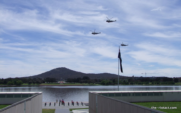 Sea Kings and Anzac Parade