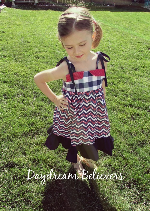 The Patriotic Betsy Dress. Vintage inspired fashion for modern kids  by Daydream Believers Designs