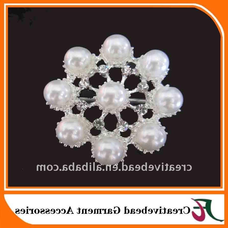 bridal pearl brooch,