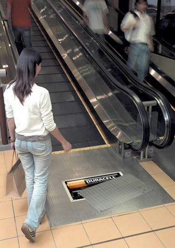 elevator and escalator advertisement