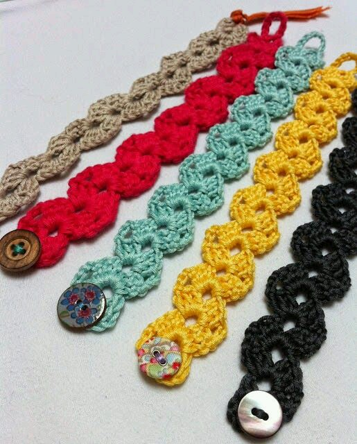 Diademas hechas en crochet, para bebés